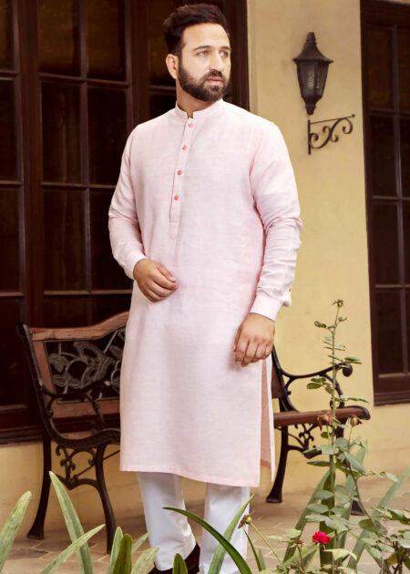 Light Pink Kurta for Men