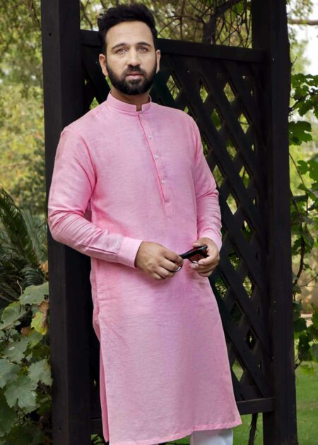 Pink Kurta for Men