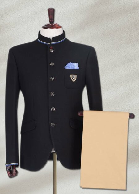 Plain Black Prince Suit