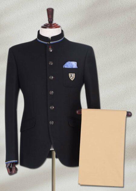 Plain Black Prince Suit