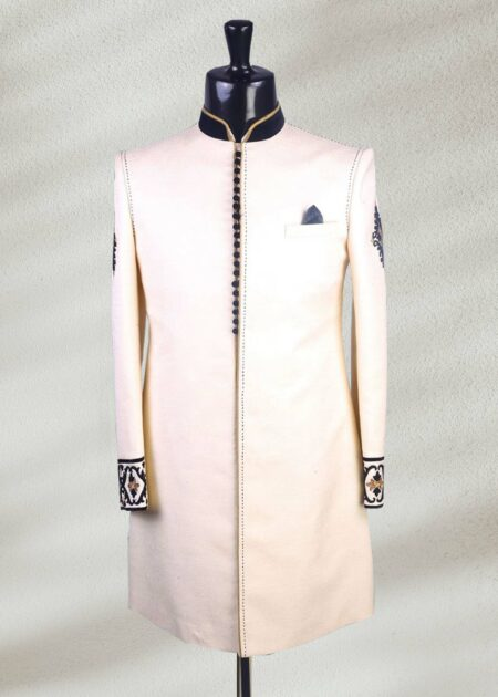 Cream Color Sherwani