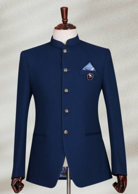 Simple Plain Blue Navy Prince suit
