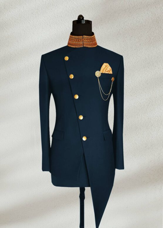 Navy Blue Indo Western Prince suit