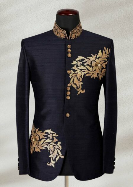 Royal Raw Silk Emroidery Prince Suit