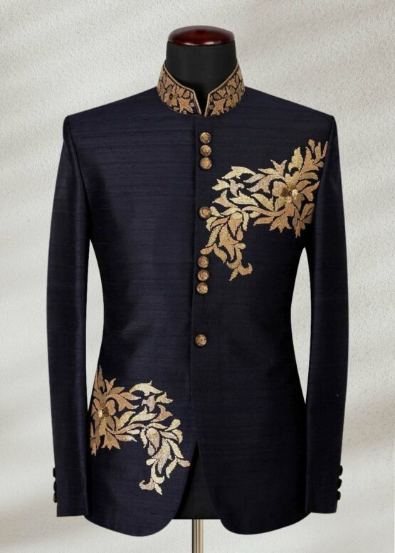 Royal Raw Silk Embroidery Prince Suit