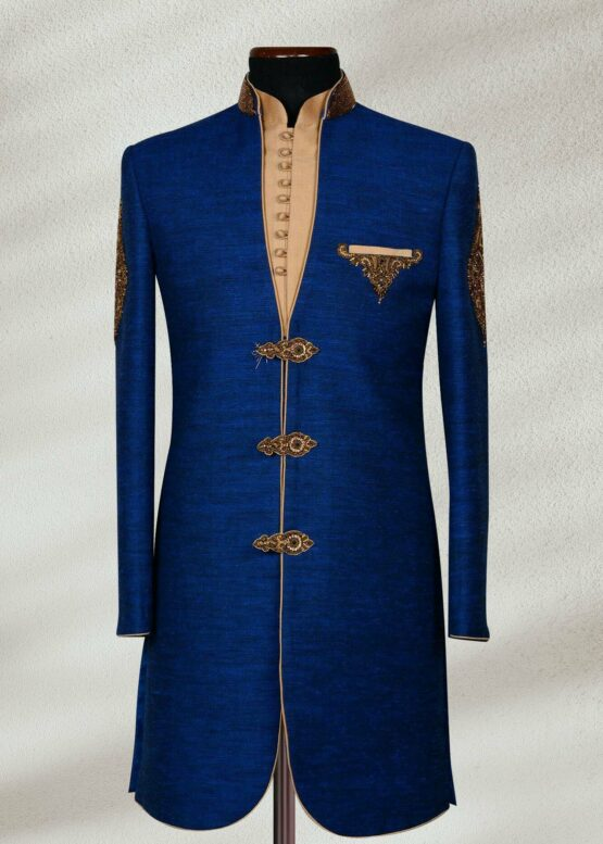 Kings Dark Blue Sherwani Dark Blue Sherwani