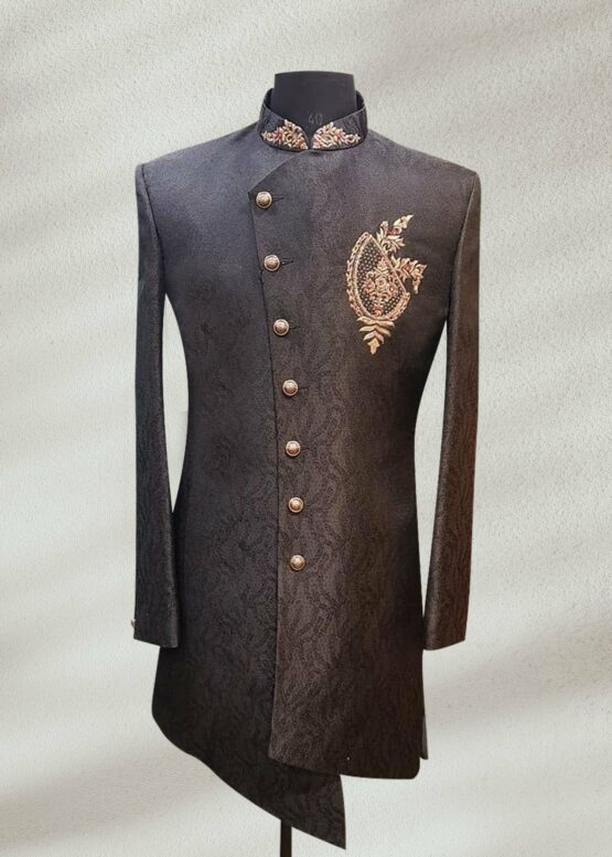 Royal Black Sherwani