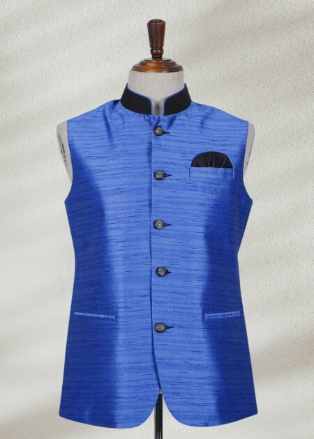 Royal Blue Customized Waistcoat