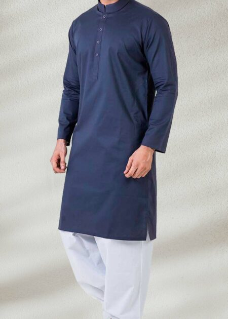 Plain Blue Kurta