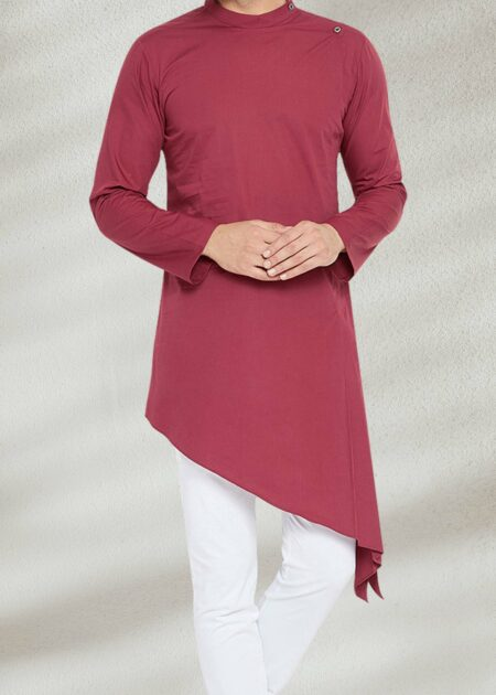 Side Cut Maroon Kurta