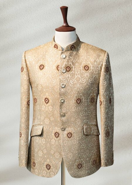 Fawn Indo Western Prince suit