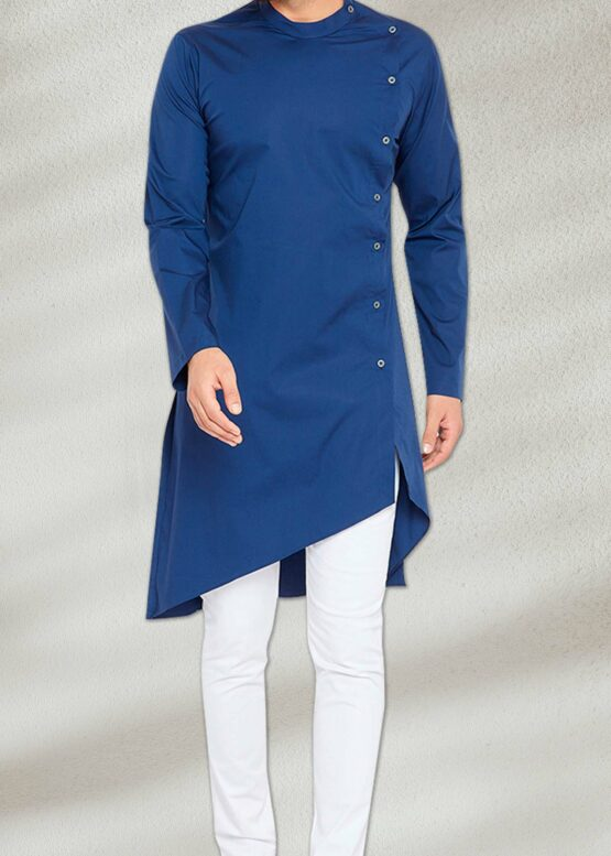 Side Cut Blue Kurta