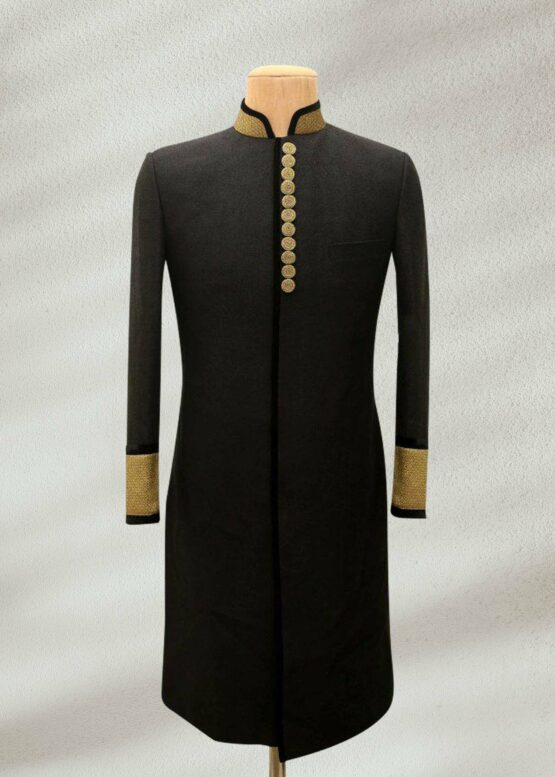 Black Groom Sherwani