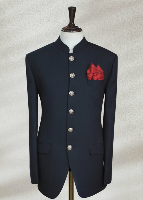 Solid Navy Blue Prince Suit