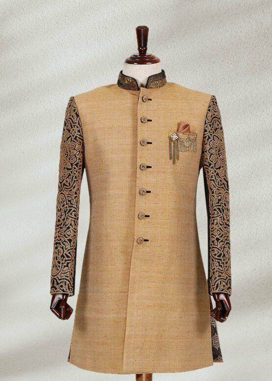 Gold Colored Sherwani