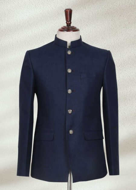 Classic Navy Blue Prince Suit