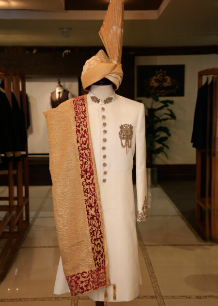 White Wedding Sherwani