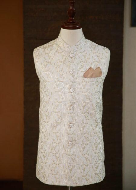 White Embroidery Waistcoat