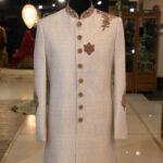 Off White Sherwani for Men