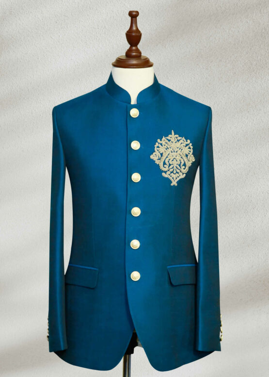 Blue Green Prince Suit