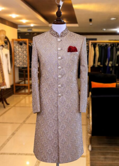 Golden Sherwani