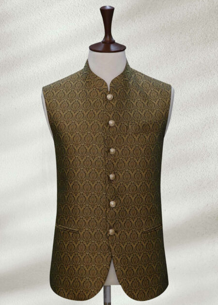 Olive Colored Waistcoat