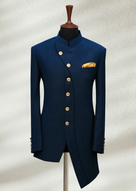 Zinc Blue Angled Cut Prince Suit