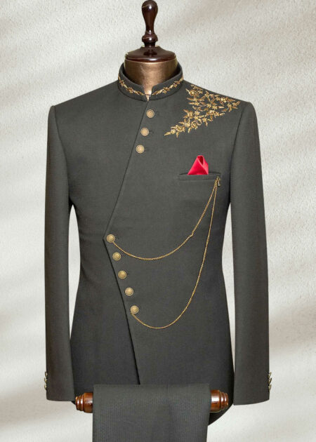 Grey Jodhpuri Suit