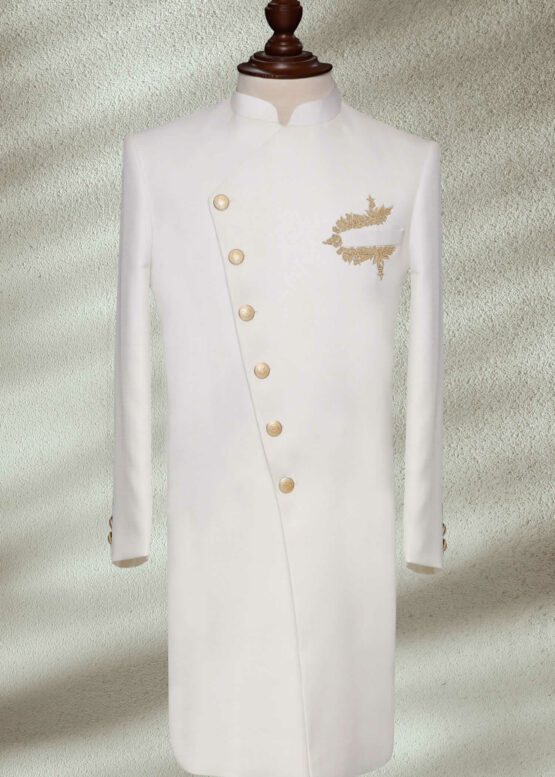 White Sherwani for Wedding