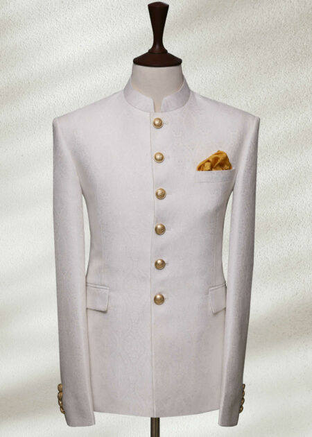 Pearl White Prince Suit
