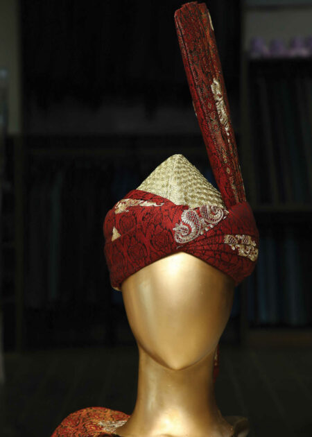 Crimson Silk Turban