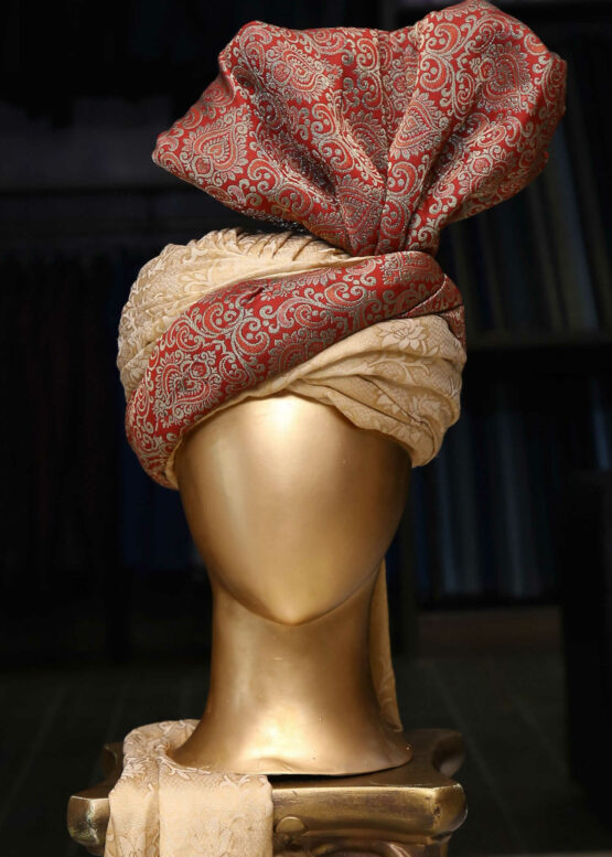 Maroon & Gold Turban