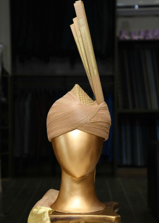 Peach & Gold Turban
