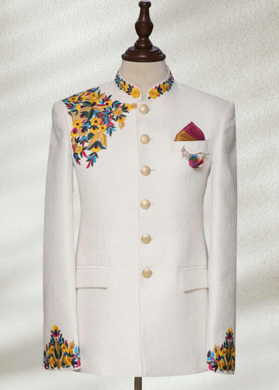 Multi Embroidered Prince Suit