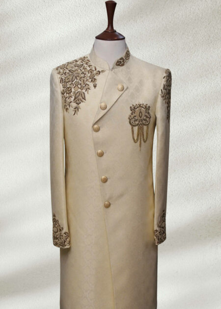Traditional Self Textured Sherwani