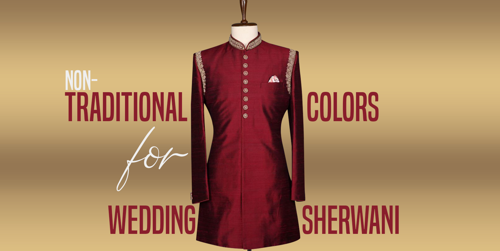 Non-Traditional Colors for Wedding Sherwani