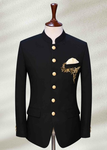 Black Prince with Embroidery